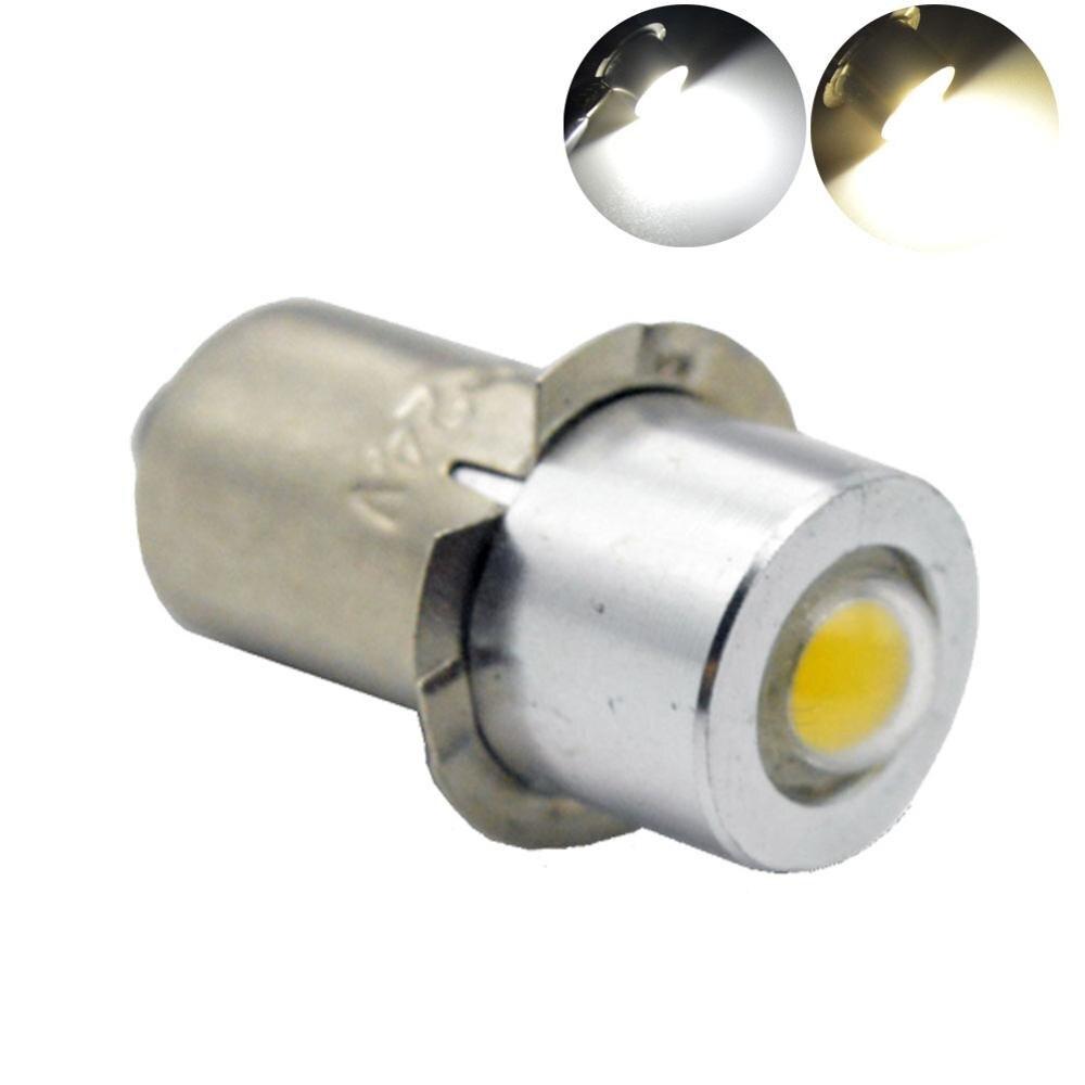 1pcs warm white 4300k 6000K 1W p13.5s car veículos de alta potência tocha indicador lanterna spot led lâmpadas 12V 3-18 V/5-24 V 100LM