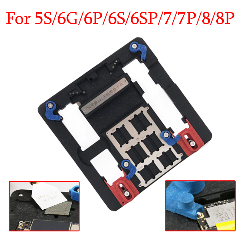 PCB Holder Jig Fixture for iPhone XR/8P/8/7P/7/SE/6SP/6S/6P/6G/5S A10 A9 A11 CPU IC Chip Circuit Board Repair Tools