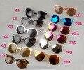 Europeu Americano Retro Cat Eye Design Óculos De Sol 2015 Metade Moldura Redonda Óculos de Sol