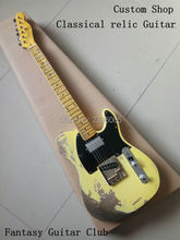 Custom Shop,classical Tele electric Guitar relics by hands.support customization. 100% handmade tl guitar Limited Edition sg guitar customization lp guitar customization mahogany material headstock logo body color ect can be customized according to u