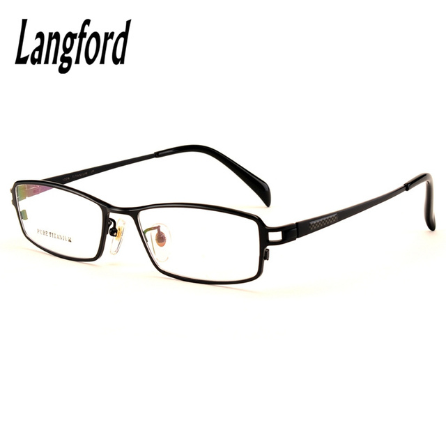 pure titanium business eyeglasses optical frames men titanium ...