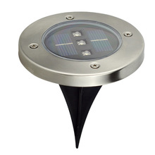The new 3LED solar underground lights lawn outdoor garden six-color optional square Outdoor Solar lamp