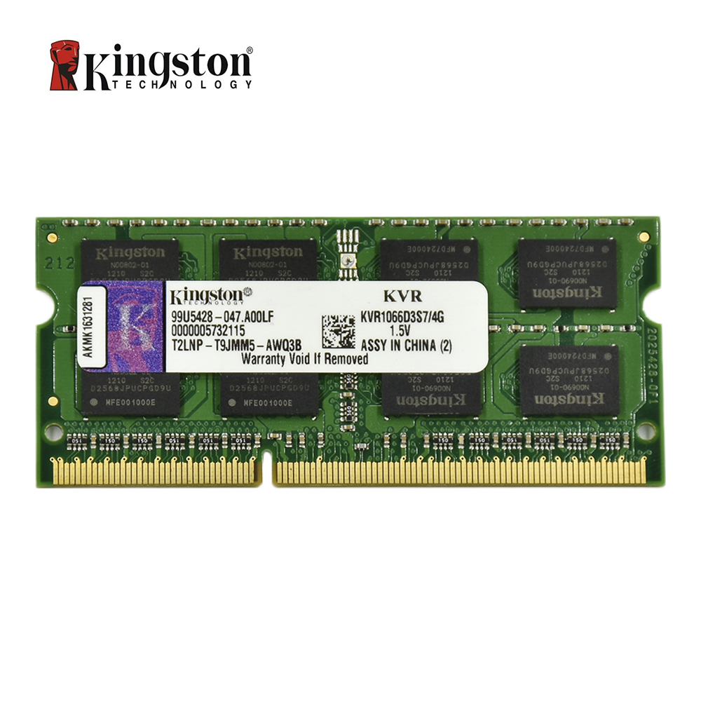 Mémoire Kingston RAM DDR3 4G 1066 MHZ PC3-8500S CL5 204pin 1.5 V mémoire d'ordinateur portable