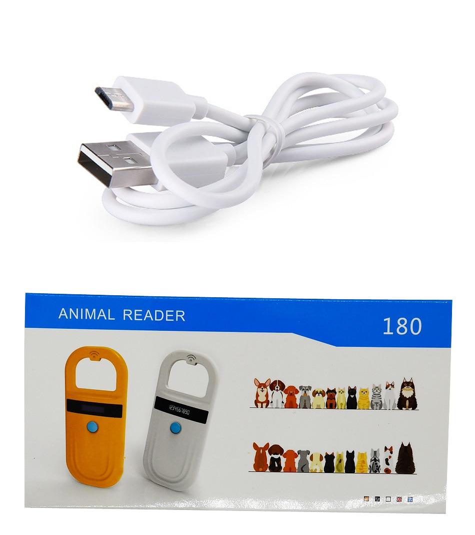 Lecteur de chien de lecteur de puce d'animal familier du lecteur O11785/84 FDX-B de 8 pièces PT180 lecteur tenu dans la main de RFID de basse fréquence avec la puce animale