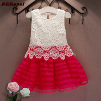 Hot Summer Girl Dress Girl Kids Pageant Princess Tutu Crochet Baby Girl Dress Party Wedding Tulle
