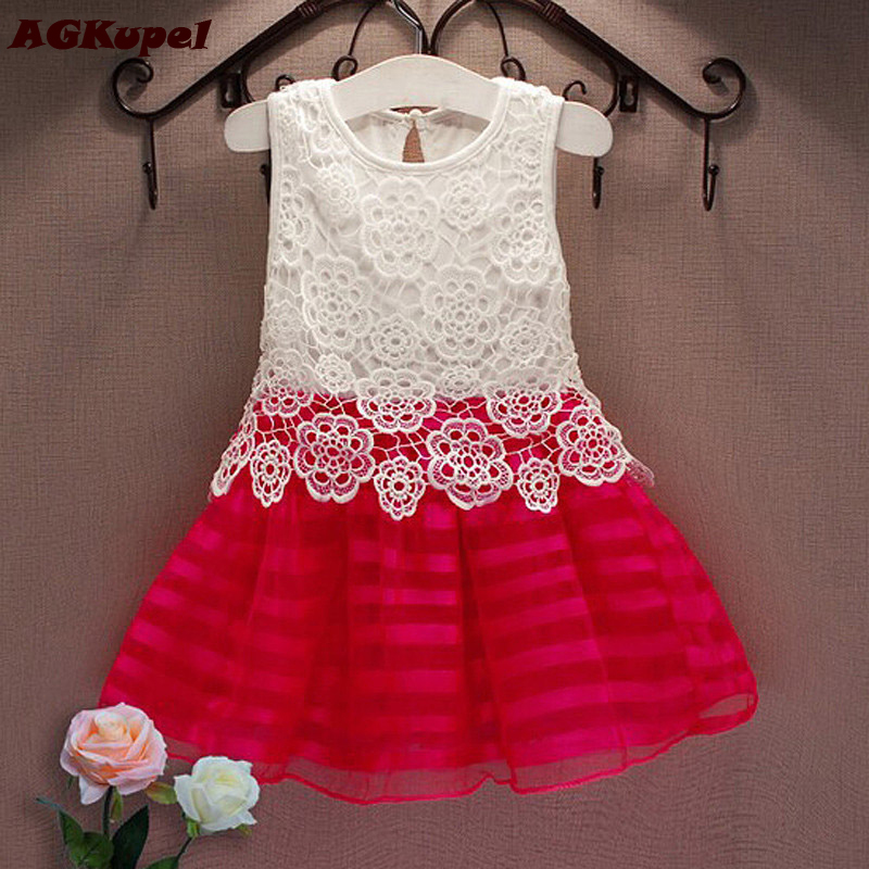 Hot Christmas Girl Dresses Girl Kids Pageant Princess Tutu Crochet Baby Girl Dress Party Wedding Tulle Dresses Girls Clothes In Dresses From