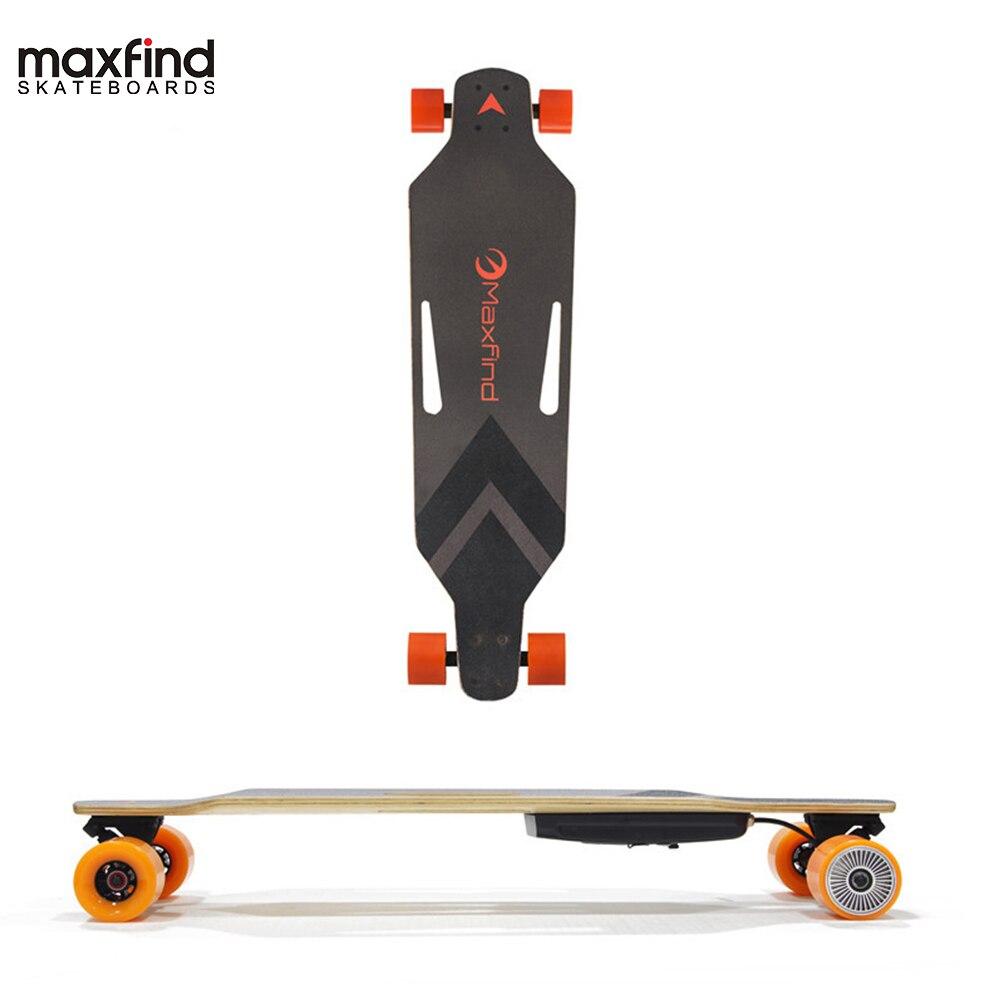 Maxfind дешевые четыре колеса RC электрический Лонгборд скейтборд с одномоторный на Большая распродажа