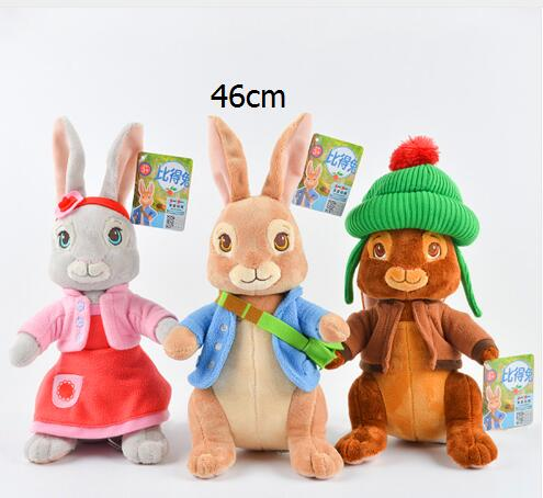 46cm Peter Rabbit Bunny Stuffed Toy Plush Soft Toys Pillow Character Dolls Children Gifts Girls & Kids & Baby 68cm kawaii bull terrier dog plush kids toy emoji sleeping pillow toy cute soft baby toys stuffed dolls for children girl gifts