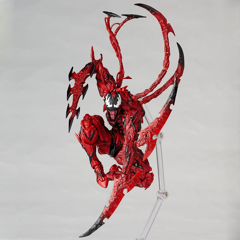 Revoltech Amazing Red Venom Carnage Amazing Captain America Spiderman Magneto Wolverine X-men Action Figures Toy Doll (56)