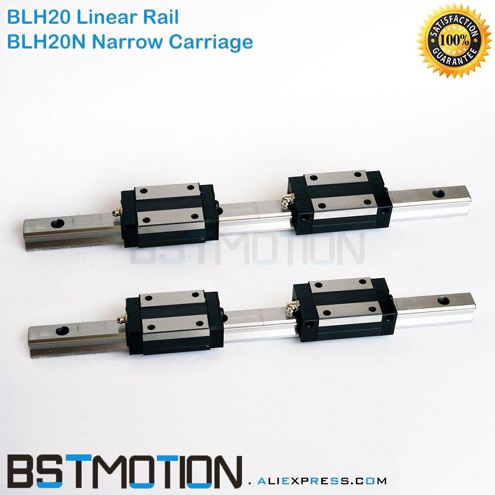 20mm prowadnica liniowa BLH20 300 400 500 600 700 800mm 900 1000mm 1100 1200mm 1300mm 1500mm rail + BLH20N wózek liniowy blok w Prowadnice liniowe od Majsterkowanie na AliExpress - 11.11_Double 11Singles' Day 1