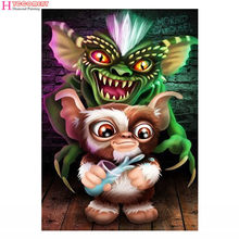"Drill 5D DIY Diamond Painting ""Big ear monkey"" 3D Embroidery Cross Stitch Mosaic Decor Gift(China)"