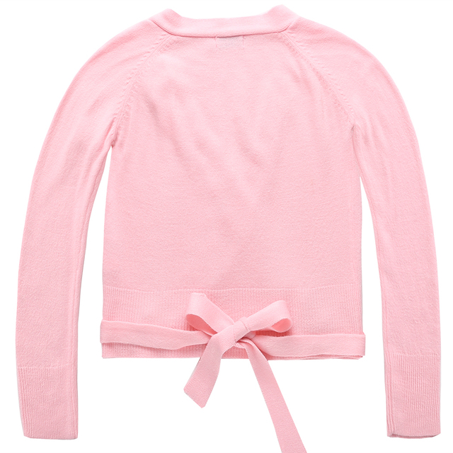 Baby Girl Long Sleeve V-Neck Knit Cardigan Sweater Casual Cotton Solid Pink Black Blue Sweater New
