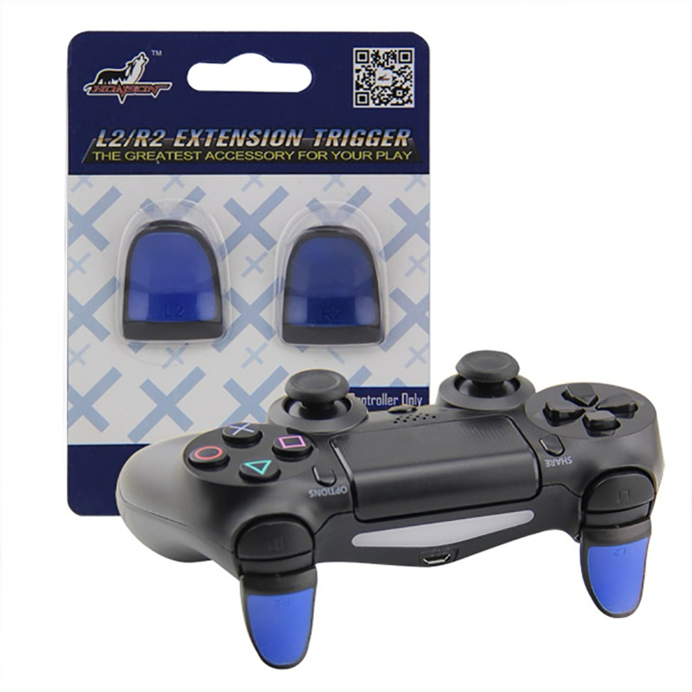 New 1 Pair Anti Slip L2 R2 Trigger Extended Buttons Kit For PS4 Controller Analog Extenders Thumbtick