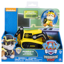 Original Nickelodeon Paw Patrol Rubble's Mission Bulldozer Spin Master Mission Paw Vehicle Toy Anime Action Figure Toys Kid Gift spin master nickelodeon paw patrol 16721 спасательный ровер маршалла