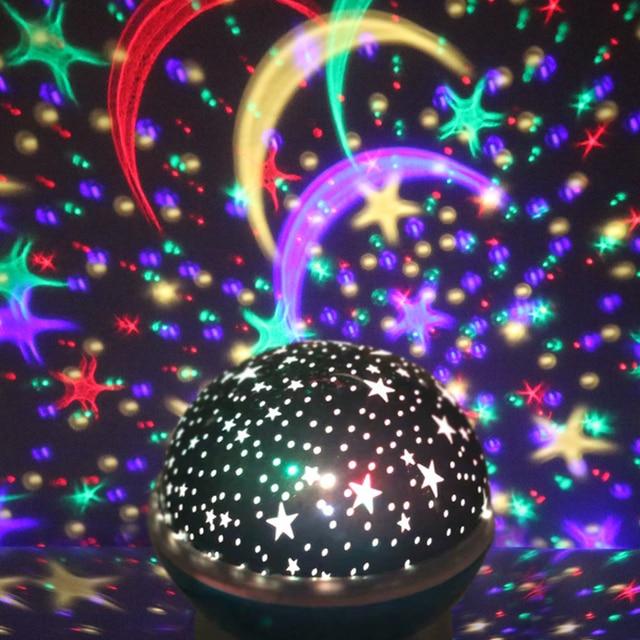 Novelty Luminous Toys Romantic Starry Sky LED Night Light Projector Battery USB Night Light Creative Birthday Toys For Children 3