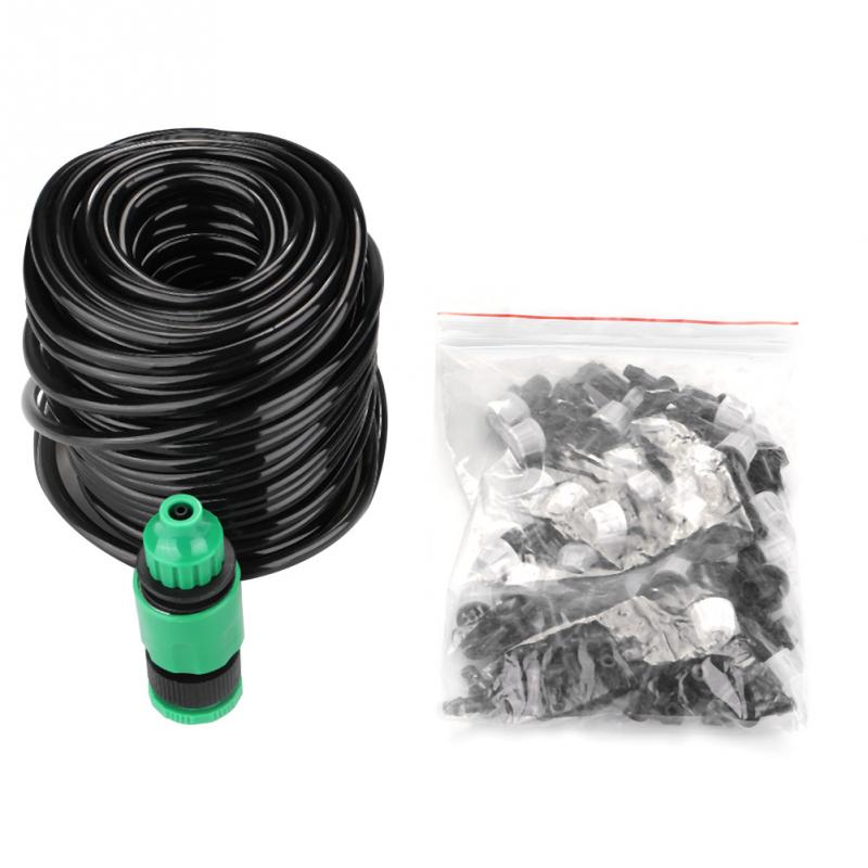 Garden Drip Irrigation System 25m Watering Hose Irrigation Nozzle Sprinkler for Garden Greenhouse Plants 25ft car wash pipe 7 in 1 spray gun modes garden hose durable latex 3 times expandable for cars washing garden watering home
