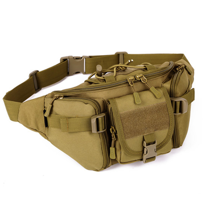 Male waist hip bag waterproof bag daily tourism great waist bag SLR cameras Waist sandbags Pack tactics Fashion luxury clutch