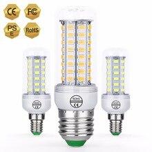 CanLing E27 светодиодный Светодиодная лампа-кукуруза E14 Bombillas светодиодный 3 Вт 220V Светодиодный светильник в форме свечи лампы GU10 5730 SMD 36 48 56 69 72 светодиодный s ампулы для дома