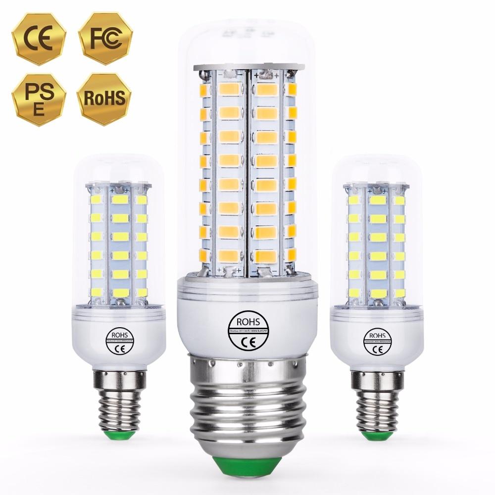 CanLing E27 Led Corn Bulb E14 Bombillas LED 3W 220V Led Lamp Candle Lights Bulb GU10 5730 SMD 24 36 48 56 69 72leds Ampoule Home