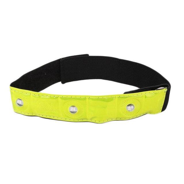 4 LED Riding Reflective Arm Leg Strap Band Elastic Walking Running Sport Safety