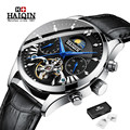 HAIQIN оригинальные механические часы уникальные мужские часы водонепроницаемые/Военные/спортивные наручные часы мужские повседневные Авто...