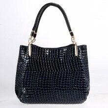 Famous Designer Brand Crocodile Bags Women Leather Handbags 2017 Luxury Ladies Hand Bags Purse Fashion Shoulder