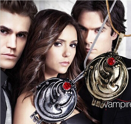2015 New Fashion Vintage Necklaces & Pendants Vampire Diaries Elena Gilbert Necklace Verbena collares For Men and Women N321