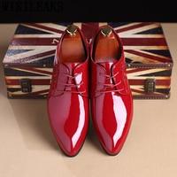 Нарядные туфли для мужчин классические лакированные свадебные туфли мужские офисные coiffeur moda italiana Мужские модельные туфли кожаные erkek ayakkabi