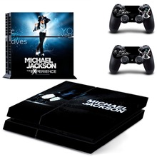 Michael Jackson PS4 Skin Sticker For Sony Playstation 4 Console +2Pcs Controllers