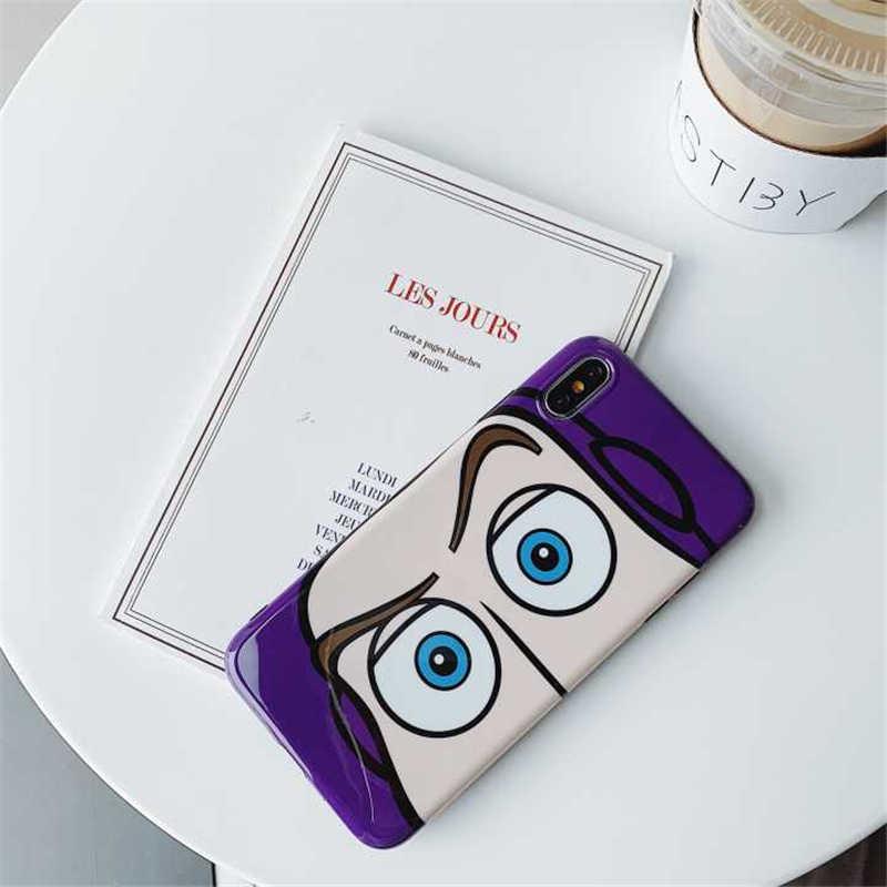 Чехол для iphone 11 Pro X XS Max XR 6 6s 7 8 plus с милыми героями мультфильмов, Блестящий Мягкий силиконовый чехол imd с большими глазами