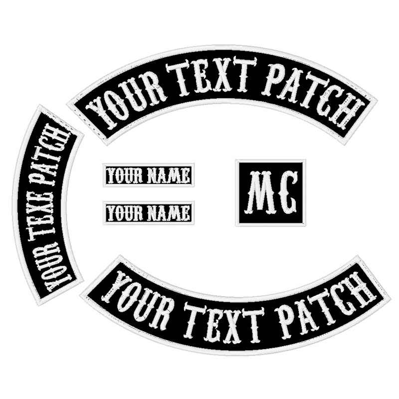 450 MM largo Custom Rocker Ferro/Sew on Ricamato Patch di 6 PZ Moto Biker Patch per Jacket Abbigliamento