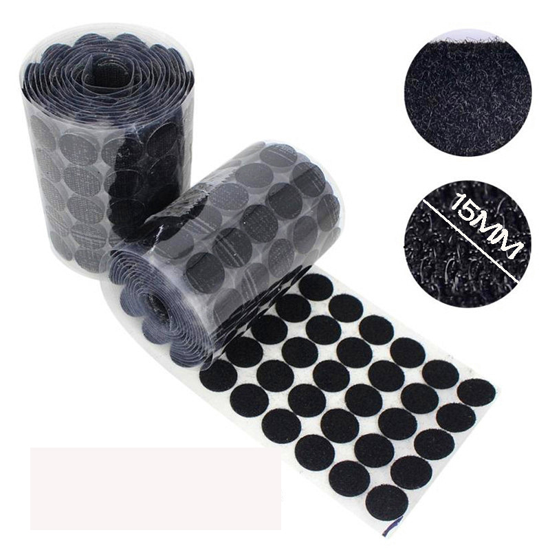15mm 90 Pairs Dots Magic Sticker Hook and Loop Double-sided Strong Glue Self Nylon Adhesive Tape Snap Button Sewing Tools