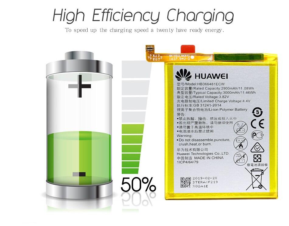 TZUOTZO HB366481ECW Bateria Para Huawei Honor 8 8 Lite Honra 5C Ascend P9 P9 Lite G9 telefone li-ion Recarregável Po bateria ferramenta