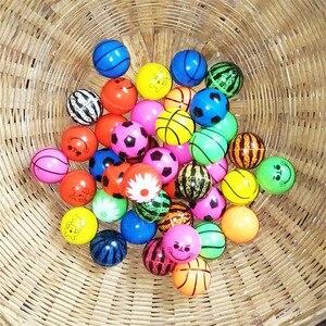 Image 3 - 30 stks/partij Grappig speelgoed ballen gemengde Bouncybal Effen drijvende stuiteren kind elastische rubberen bal van bouncy speelgoed 25MM