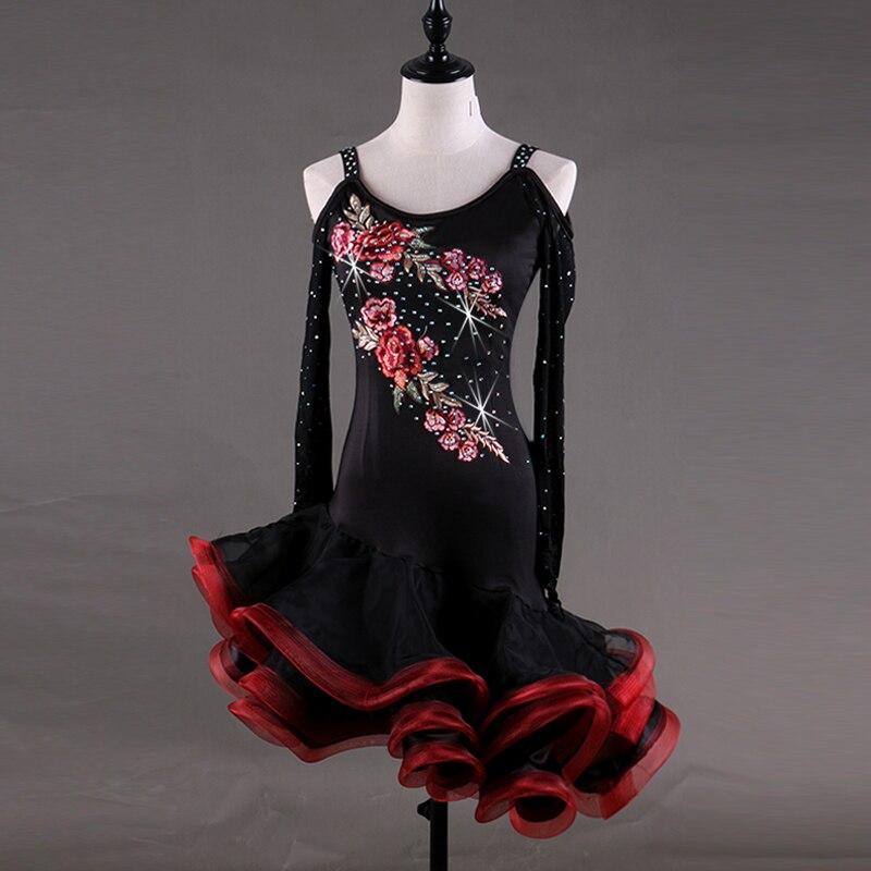 salsa latin dance wear latin dance dress women competition dress vestido tango samba latin dance costume girls children women