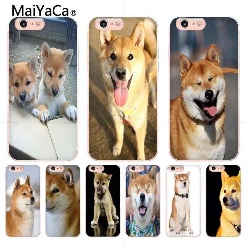 MaiYaCa 2018 nueva venta caliente shibainu perro personalizado imagen impresión funda para iPhone X 6 6 S 7 7 8 8 plus 5 5S
