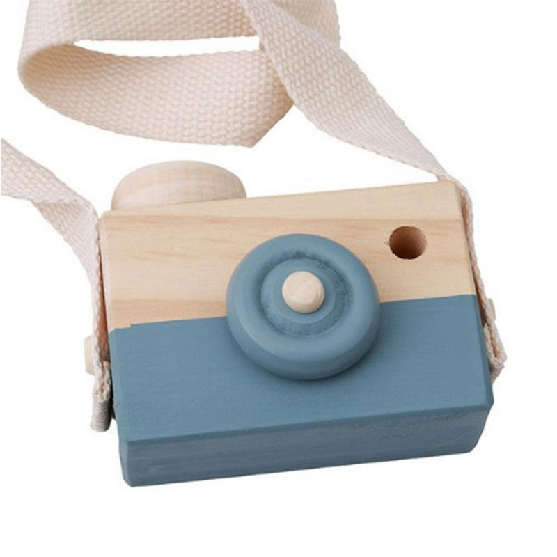 1 Pc Wooden Camera Home Wall Ornaments Cute Nordic Hanging Wooden Camera Kids Room Decor Items For Birthday Gifts Miniatures