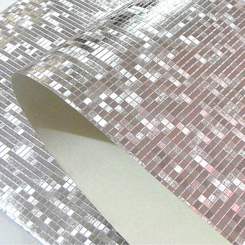 Luxury Glitter Mosaic Wallpaper Background Wall Wallpaper Gold Foil Wallpaper Silver Ceiling Wall Covering Papel De Parede 3D