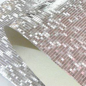 Image 1 - Luxury Glitter Mosaic Wallpaper Background Wall Wallpaper Gold Foil Wallpaper Silver Ceiling Wall covering Papel De Parede 3D