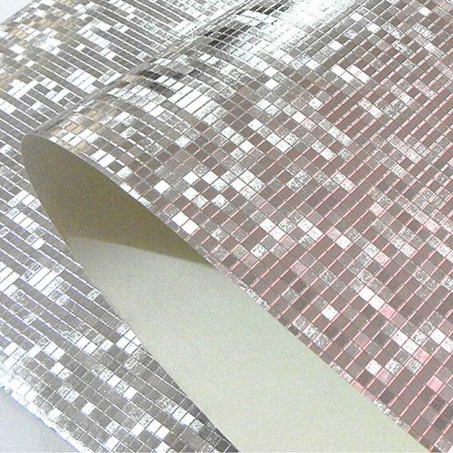Luxus Glitter Mosaik Tapete Hintergrund Wand Tapete Goldfolie Tapete Silber Decke Wand abdeckt Papel De Parede.jpg 640x640 - Mosaik Tapete