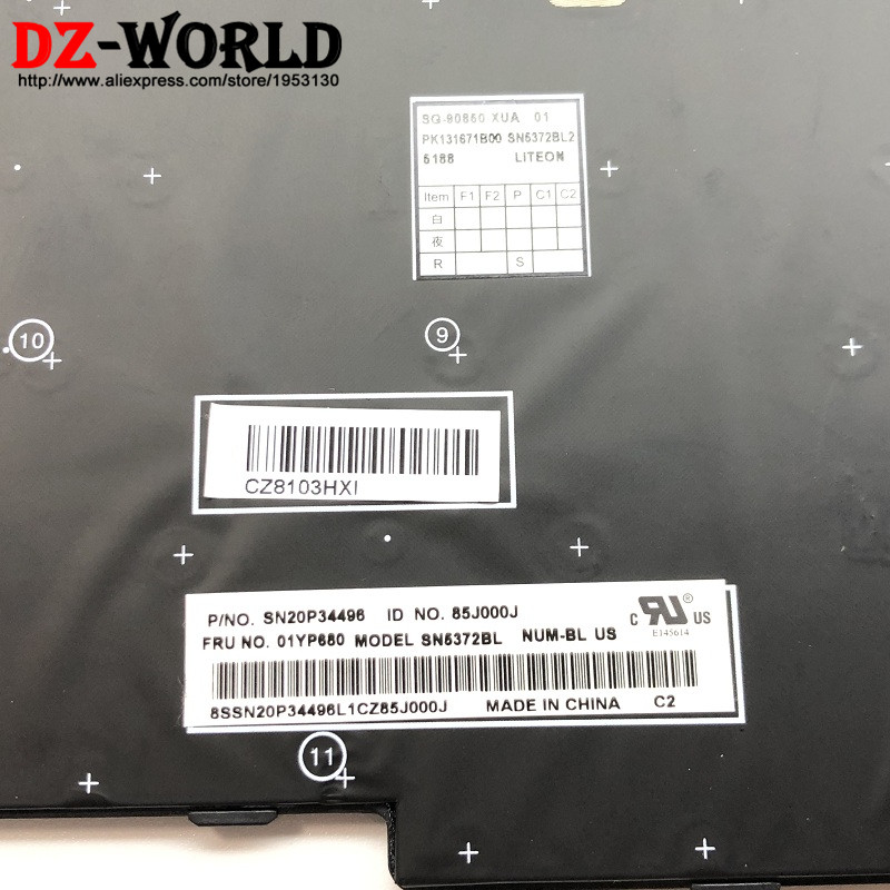Image 3 - New/Orig US English Backlit Keyboard for Lenovo Thinkpad  E580 