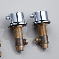New Luxury Modern Bathroom Or Kitchen Faucet Accessories Hot And Cold Valve Half Of Pair