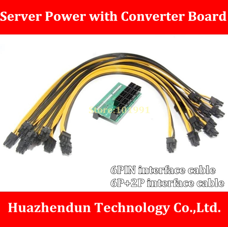 DEBROGLIE  SERVER POWER  A Power Supply Breakout Board + 10PCS Power Cable 6pin/8pin(6P+2P) for Ethereum Mining    50CM free dhl ems 6pin 8pin server power supply cable for dell2950 2850 1470w 6pin 8pin semi product cable 6 p 8 p 18awg
