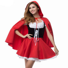 S-6XL Sexy Vrouwen Roodkapje Kostuums Anime Cosplay Fantasy Game Uniformen Halloween Party Fancy Dress(China)
