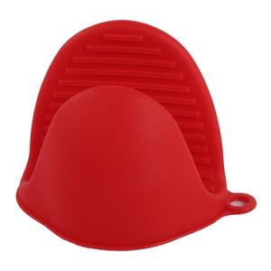 Image 4 - Serviette de cuisine avec gants en Silicone épais Anti chaud, de qualité alimentaire, isolation thermique, mallette de cuisson, plaque de cuisson, Clip à la main