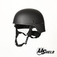 AA Shield Ballistic ACH MICH Tactical Teijin Helmet Color Black Bulletproof Aramid Safety NIJ Level IIIA Military Army