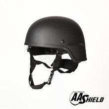 AA Shield Ballistic ACH MICH Tactical Kevlar Helmet Color Black Bulletproof Aramid Safety NIJ Level IIIA  Military Army