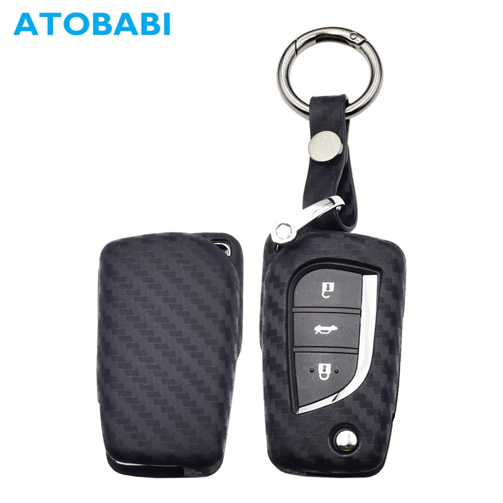 Interior Accessories Key Case For Car 3 Button Silicone Car Remote Key Fob Shell Cover Case For Toyota Auris Corolla Avensis Verso Yaris Aygo Scion Tc Im 2015 2016