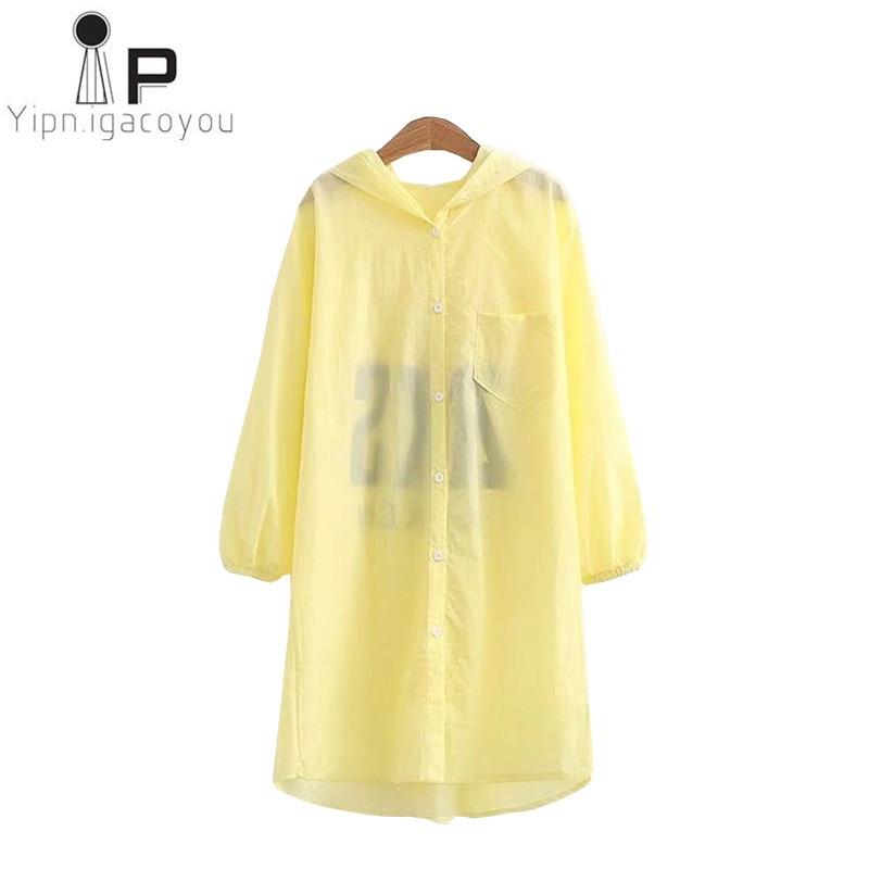 Summer Sunscreen Women Jacket Harajuku Ladies Plus size White Blue Print Thin Long sleeve Hooded Long Cardigan Women Coat 3XL4XL