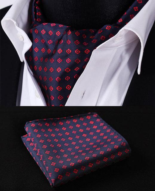 Azul marinho RF204R tela de seda lenço Floral lenço gravata bolso praça Handkerchief Set